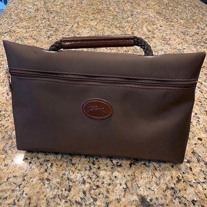 LongChamp Brown Makeup Bag Authentic